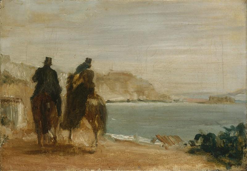Hilaire Germain-Edgar Degas - Promenade beside the Sea. Part 3 National Gallery UK