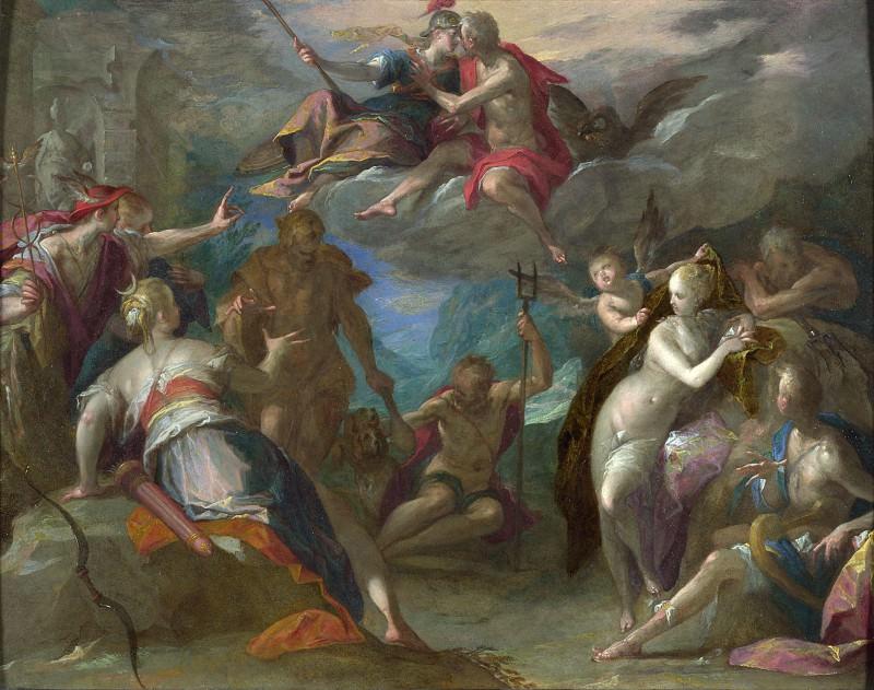 Hans von Aachen - The Amazement of the Gods. Part 3 National Gallery UK