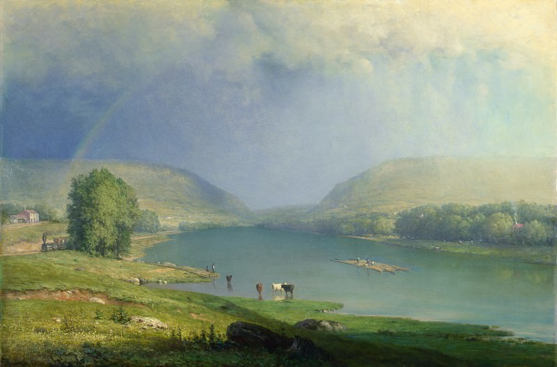 George Inness - The Delaware Water Gap. Part 3 National Gallery UK