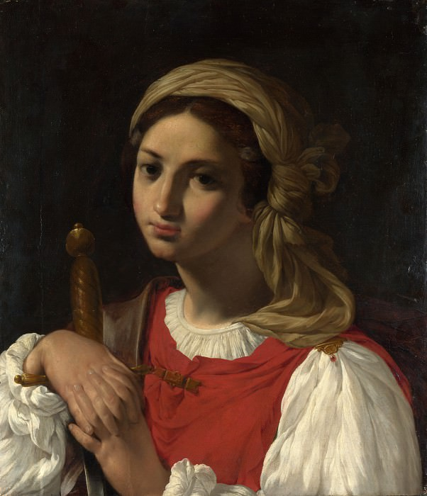 Italian - A Female Figure resting on a Sword. Part 3 National Gallery UK