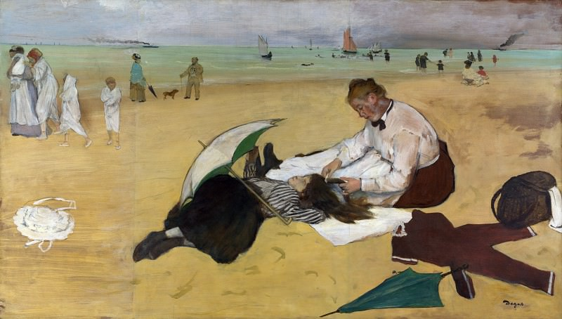 Hilaire Germain-Edgar Degas - Beach Scene. Part 3 National Gallery UK