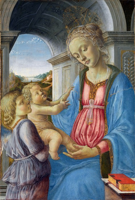 Imitator of Fra Filippo Lippi - The Virgin and Child with an Angel. Part 3 National Gallery UK