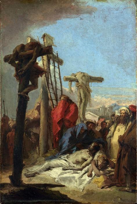 Джованни Доменико Тьеполо - Оплакивание у подножия креста. Часть 3 Национальная галерея