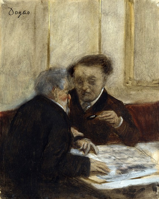 Hilaire Germain-Edgar Degas - At the Cafe Chateaudun. Part 3 National Gallery UK