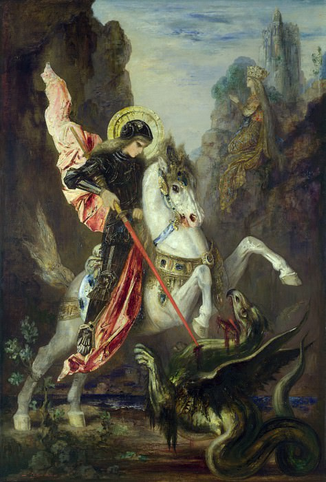 Gustave Moreau - Saint George and the Dragon. Part 3 National Gallery UK