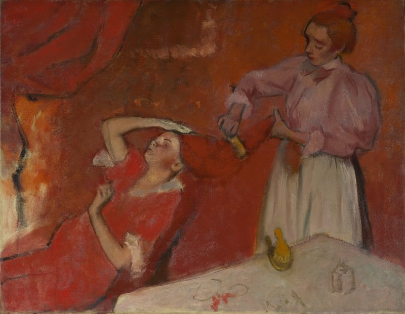 Hilaire Germain-Edgar Degas - Combing the Hair (La Coiffure). Part 3 National Gallery UK