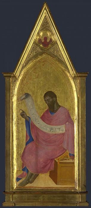 Giovanni da Milano - Saint John the Baptist - Right Pinnacle Panel. Part 3 National Gallery UK