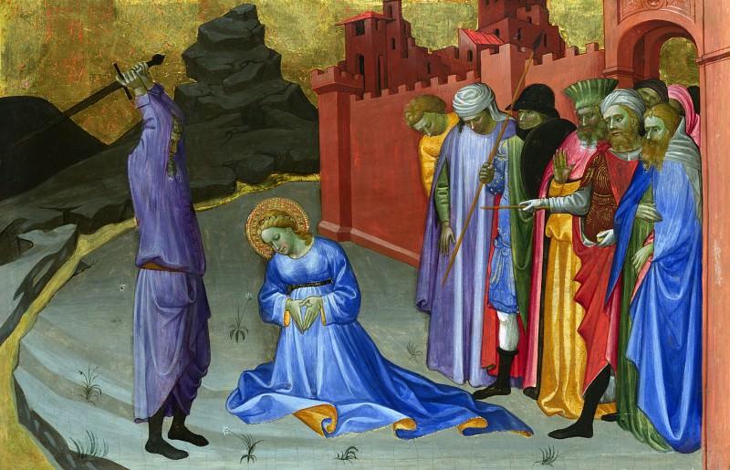 Gherardo di Jacopo Starnina (Master of the Bambino Vispo) - The Beheading of Saint Margaret. Part 3 National Gallery UK