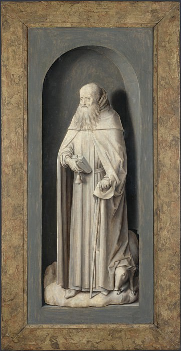 Hans Memling - Saint John the Evangelist. Part 3 National Gallery UK