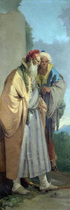Two Men in Oriental Costume. Giovanni Battista Tiepolo