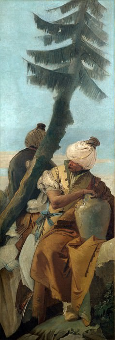 Two Orientals seated under a Tree. Giovanni Battista Tiepolo