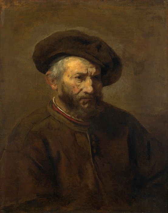 Imitator of Rembrandt - A Study of an Elderly Man in a Cap. Part 3 National Gallery UK