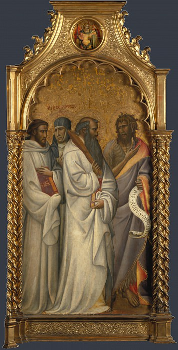 Giovanni dal Ponte - Saints Bernard, Scholastica, Benedict and John. Part 3 National Gallery UK
