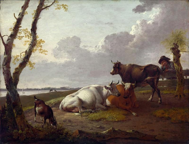 Heinrich Wilhelm Schweickhardt - Cattle. Part 3 National Gallery UK