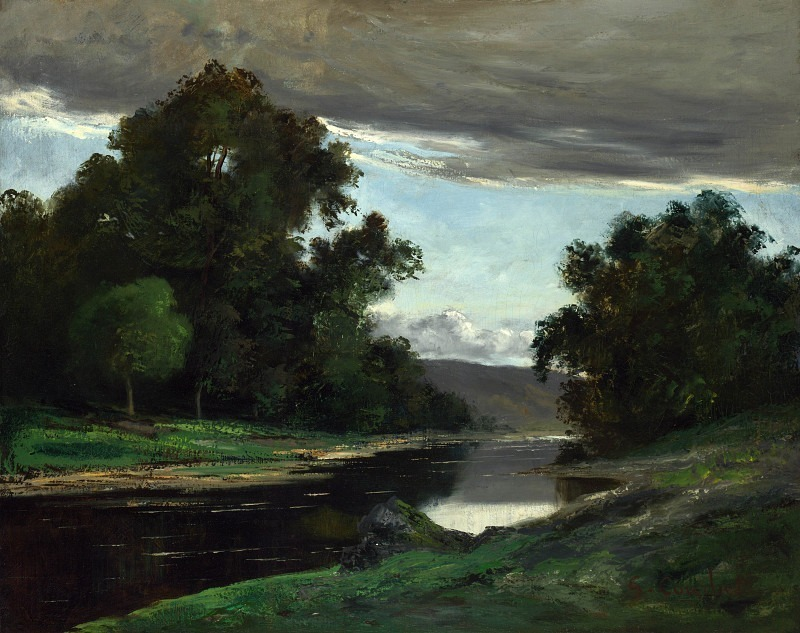 Imitator of Gustave Courbet - Landscape. Part 3 National Gallery UK