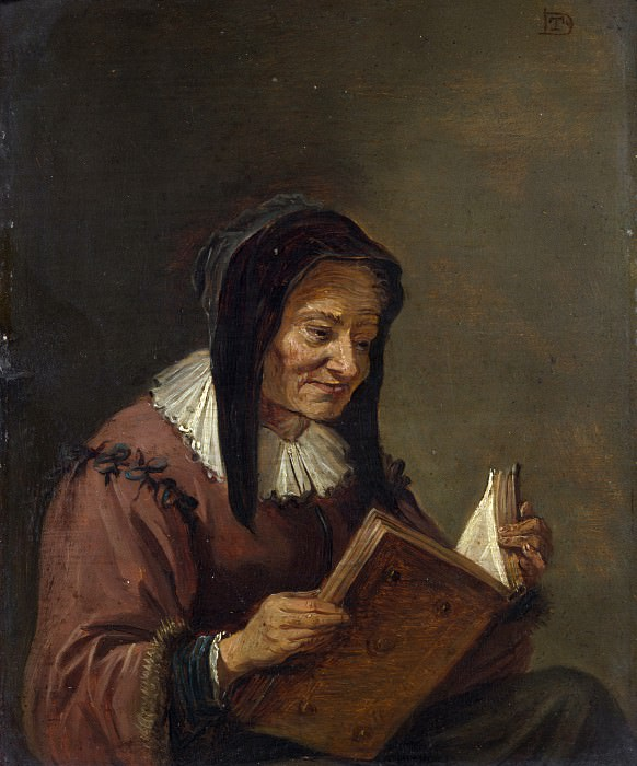 Imitator of David Teniers the Younger - An Old Woman Reading. Part 3 National Gallery UK