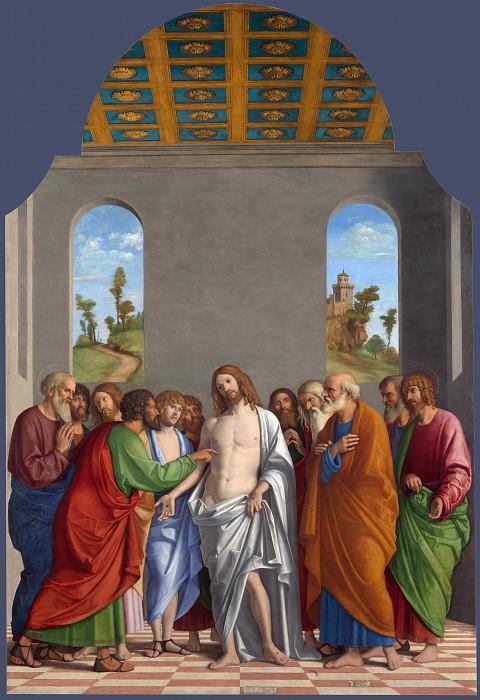 Giovanni Battista Cima da Conegliano - The Incredulity of Saint Thomas. Part 3 National Gallery UK