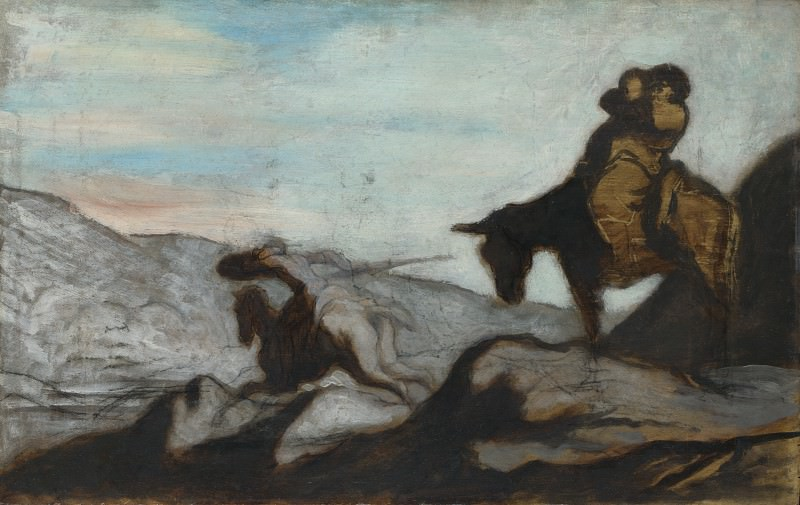 Honore-Victorin Daumier - Don Quixote and Sancho Panza. Part 3 National Gallery UK