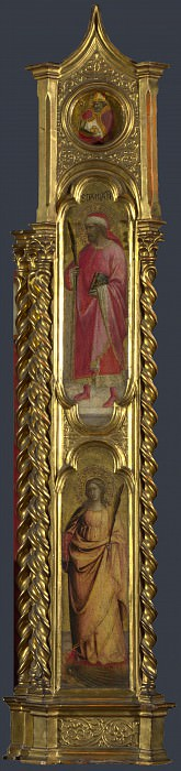 Giovanni dal Ponte - Saints Nicholas, Damian and Margaret - Right Pilaster. Part 3 National Gallery UK