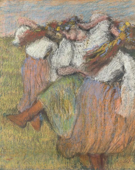 Hilaire Germain-Edgar Degas - Russian Dancers. Part 3 National Gallery UK