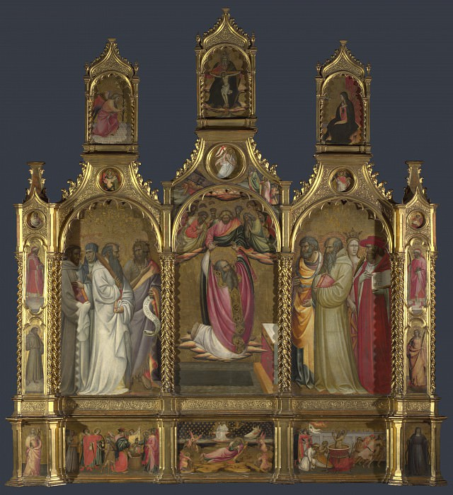 Giovanni dal Ponte - Ascension of John the Evangelist Altarpiece. Part 3 National Gallery UK