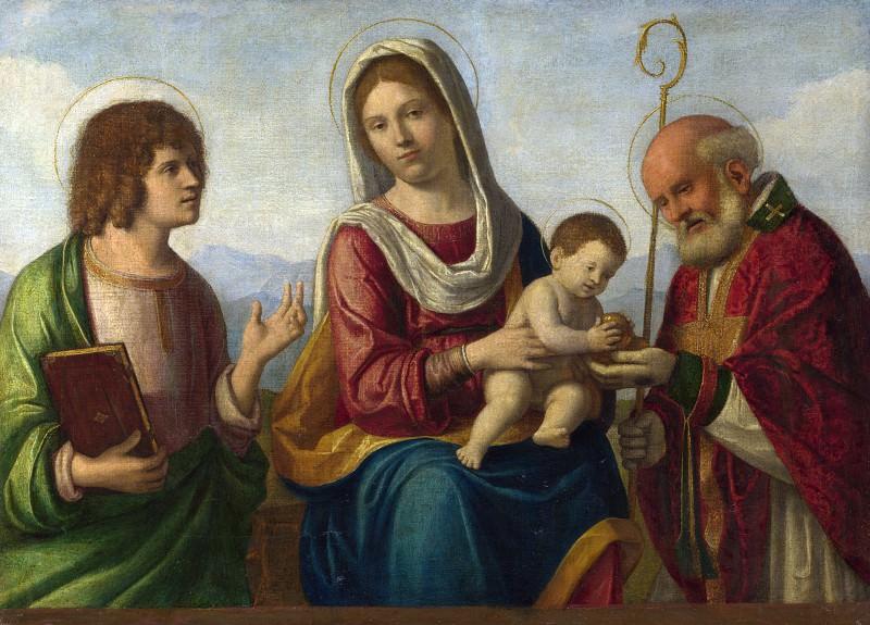 Giovanni Battista Cima da Conegliano - The Virgin and Child with Saints. Part 3 National Gallery UK