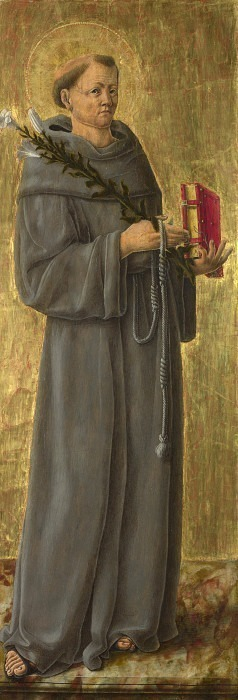 Giorgio Schiavone - Saint Anthony of Padua. Part 3 National Gallery UK