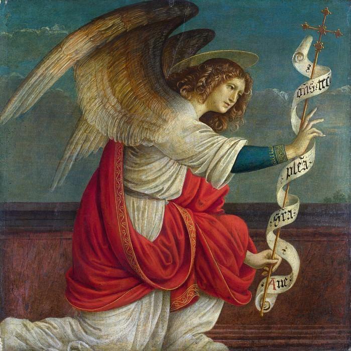 Gaudenzio Ferrari - The Annunciation - The Angel Gabriel. Part 3 National Gallery UK