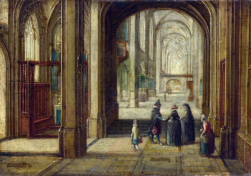 Hendrick van Steenwyck the Younger - The Interior of a Gothic Church looking East. Part 3 National Gallery UK