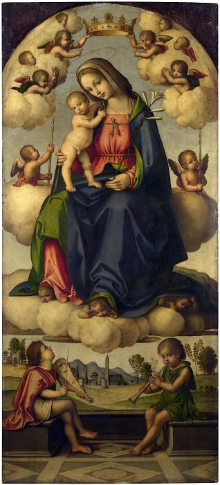 Giovanni Battista da Faenza - The Virgin and Child in Glory. Part 3 National Gallery UK