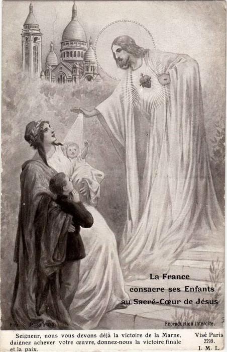 Франция освящает своих детей пред святым сердцем Иисуса. Соломко Сергей Сергеевич