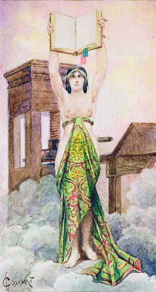 Priestess, 1910 Corners. Sergey Sergeyevich Solomko
