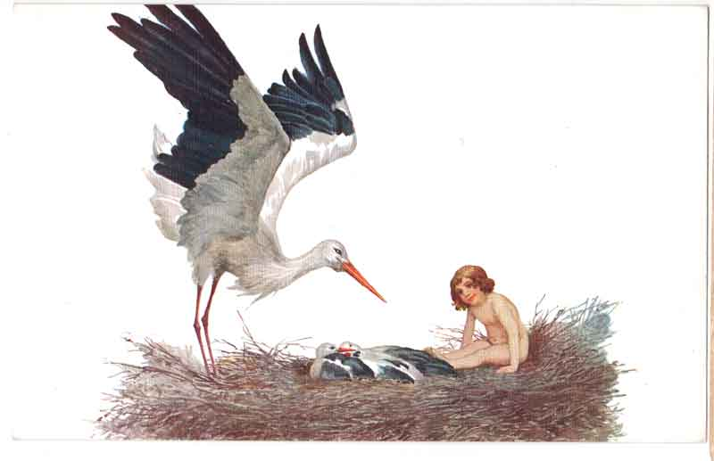 Blessed be the home where the stork had built her nest. Sergey Sergeyevich Solomko