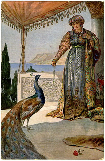 Lady with Peacock. Sergey Sergeyevich Solomko