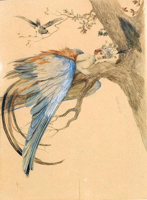 Blue Bird (Bird Sirin). Sergey Sergeyevich Solomko