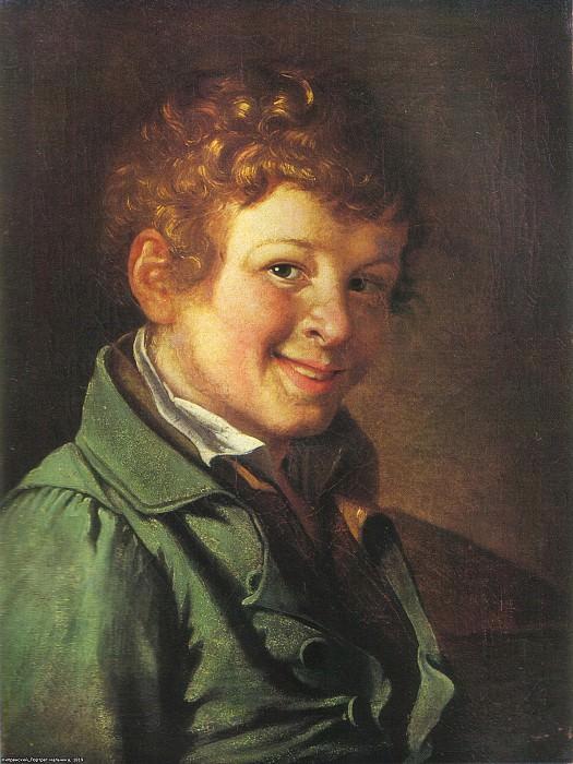 Portrait of a boy. 1819. Tashkent. Orest Adamovich Kiprensky
