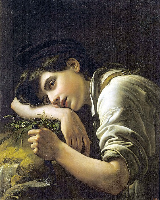 Young gardener. 1817 Oil on canvas. 62h49, 5 RM. Orest Adamovich Kiprensky