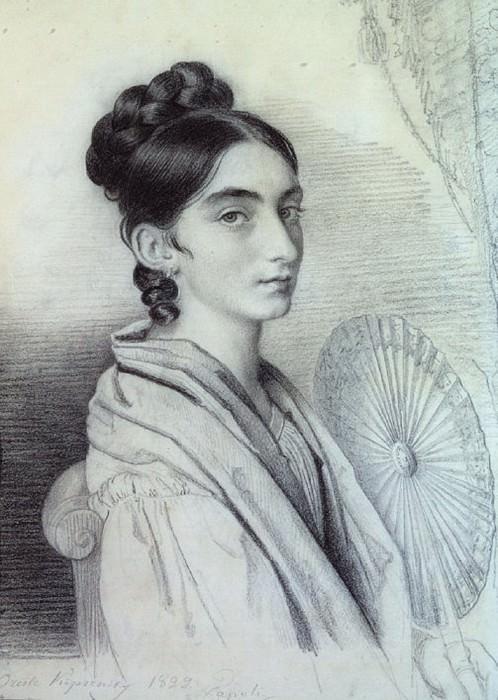 Portrait of Countess Sofya Alexandrovna Golenischeva - Kutozova 1829 BA, um. K. RM. Orest Adamovich Kiprensky