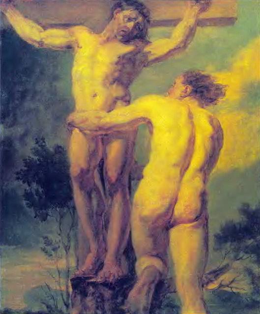 Crucifixion. Etude two sitters. 1800-e. D., M. 62h50. 3. GTG. Orest Adamovich Kiprensky