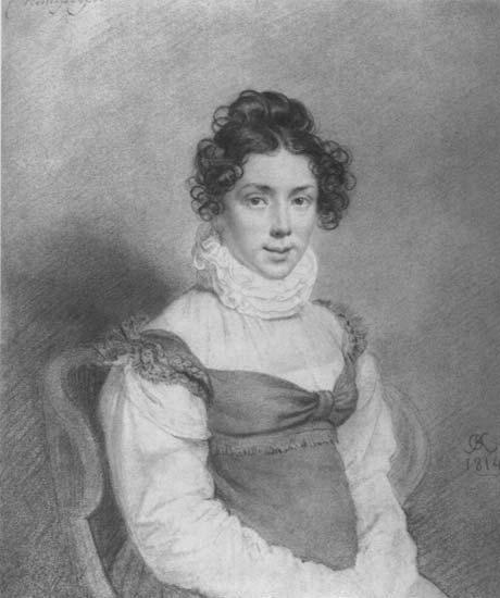 Гурко В. Д. (q, женский портрет, 1814) ГТГ. Орест Адамович Кипренский