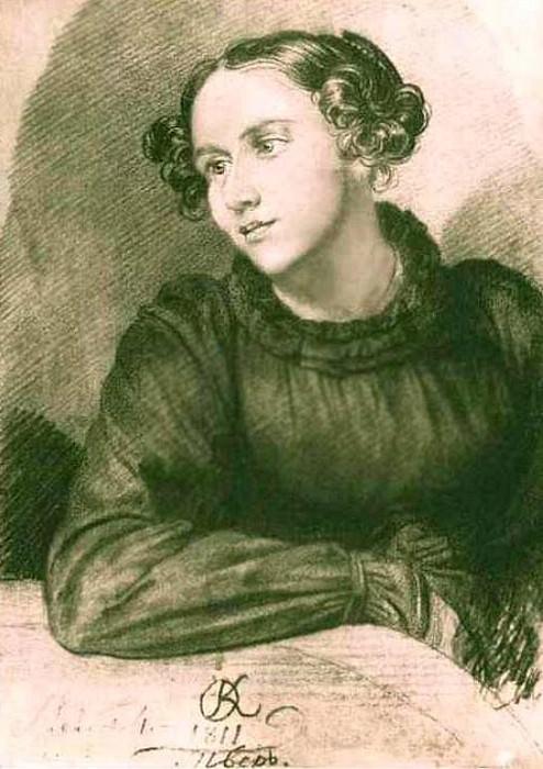 Портрет неизвестной 1811 Б. , ит. к. 27. 8х19. 2 ГТГ. Орест Адамович Кипренский