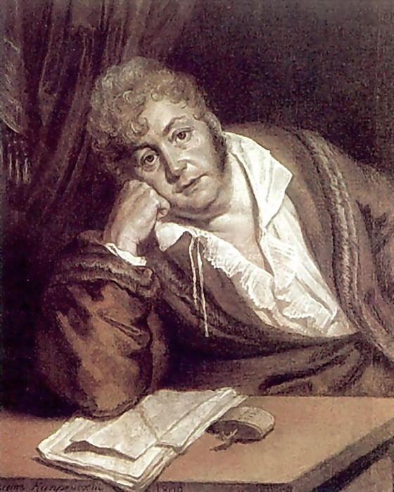Portrait VD Davydov 1809. B. cinnamon. , Um. K., chalk. 60h48. 5 GTG. Orest Adamovich Kiprensky