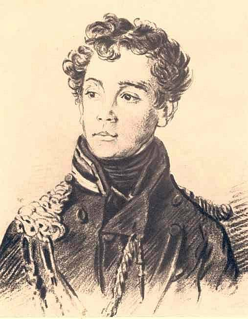 Portrait of an unknown officer. 1813 IT. c., b. , 27h17. 8 MN. Orest Adamovich Kiprensky