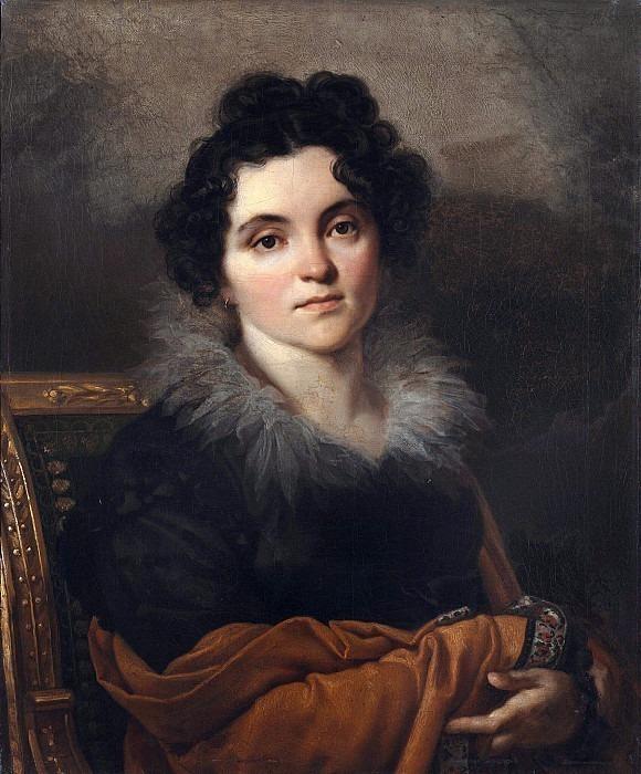 Portrait of Daria Khvostova. Orest Adamovich Kiprensky
