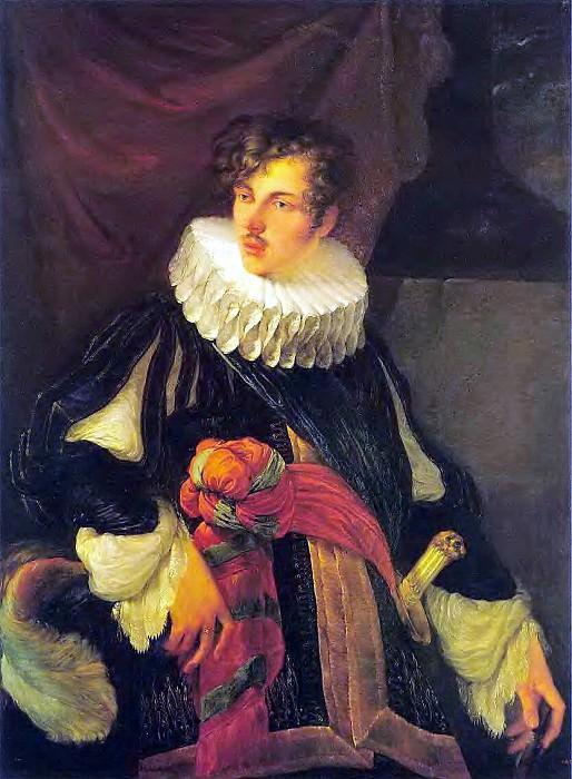 Portrait VA Perovskii in Spanish costume XVIIveka. 1809. H., M. 112h83 RM. Orest Adamovich Kiprensky