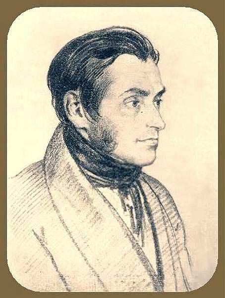 Portrait of Adam Mickiewicz 1824 GTG. Orest Adamovich Kiprensky