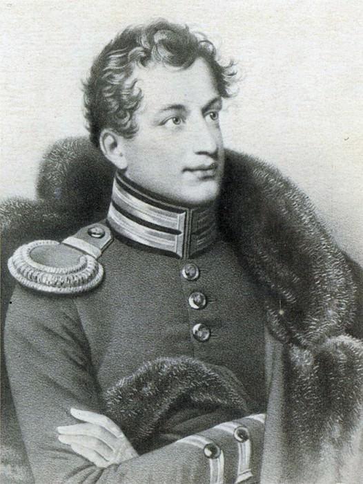 Portrait IA Annenkov. Lithograph lost. Original Kiprensky. GMM M.. Orest Adamovich Kiprensky