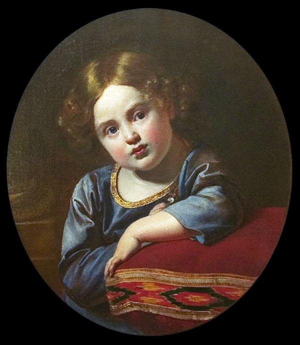 Portrait of Prince EG Gagarin child. 1816-17 ES AV Mamonova, France. Orest Adamovich Kiprensky