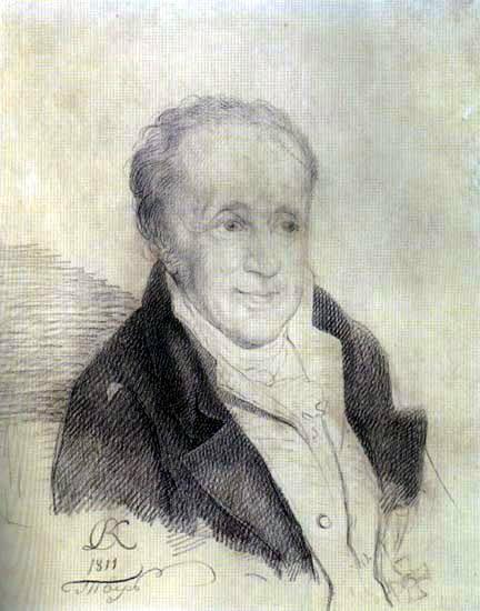 Portrait of Ivan Petrovich Wolfe. 1811 Paper, Italian pencil. 26, 9h22, 1 Tver. Orest Adamovich Kiprensky