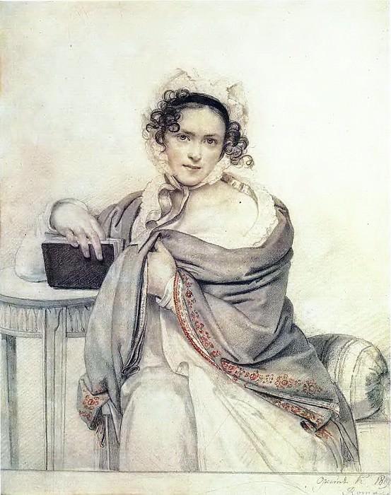 Portrait SS Scherbatova. 1819 TG. Orest Adamovich Kiprensky
